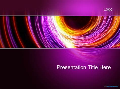 Free Abstract Purple PPT Template