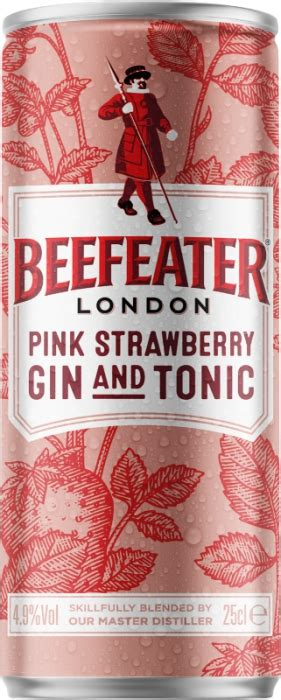 Beefeater Pink Strawberry Gin & Tonic 4,9% 0,25 L | mabo