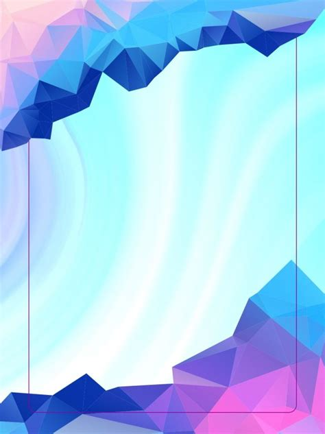 Beautiful Dreamy Low Polygon Mosaic Gradient Poster