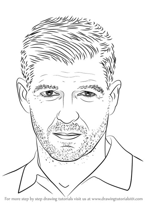 Learn How to Draw Steven Gerrard (Footballers) Step by