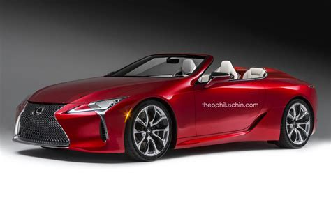 Lexus LC 500 Convertible Rendering Grabs Attention, We See