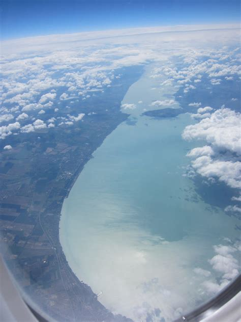 File:Lake Balaton, aerial view from Northwest end with
