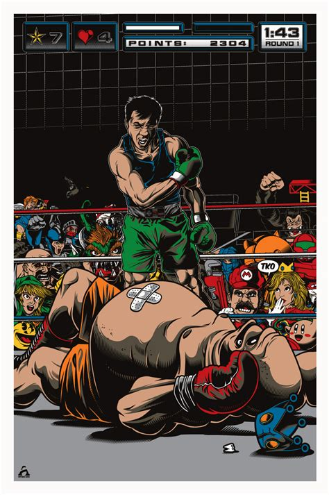 Punch-Out!! Art Based on Famous 1965 Ali vs Liston Photo