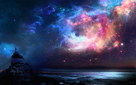 space, Rock, Alone, Water HD Wallpapers / Desktop and