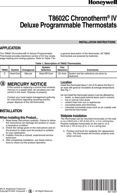 Honeywell Chronotherm Instruction Manual - clevermodern