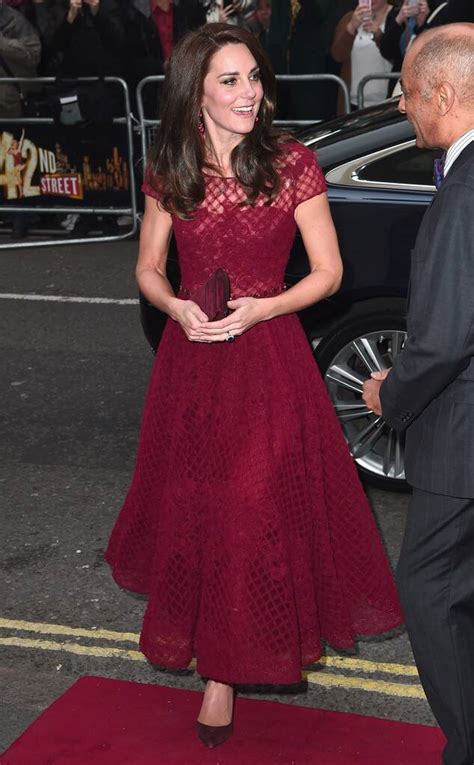 Kate Middleton Stuns in Marchesa Notte on 42nd Street's