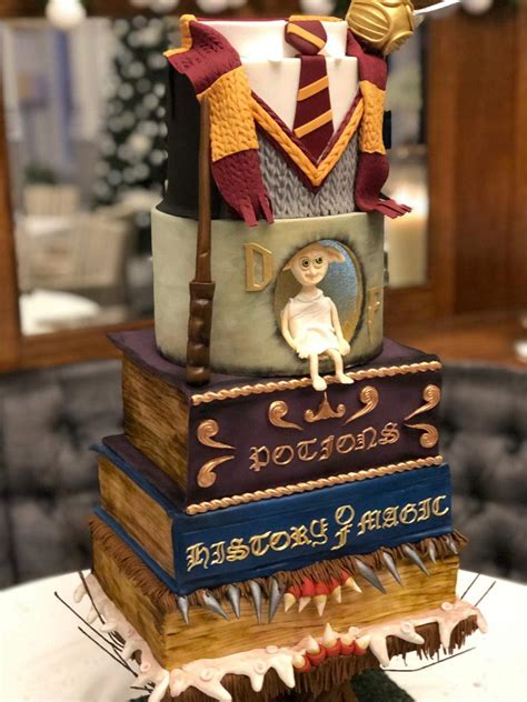 Harry Potter Wedding Cake made for my friends big day