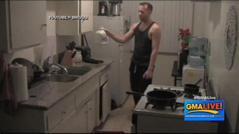 Sleepwalking Video: Man Caught Pouring Out Milk Video