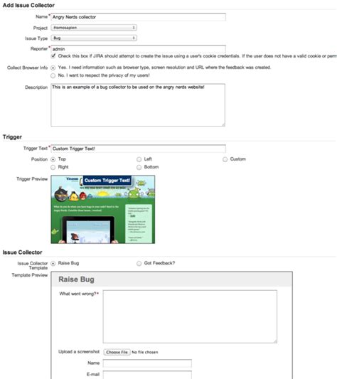 Easy issue creation for external reporters: the JIRA Issue