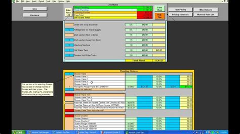 Plumbing and Electrical Microsoft Excel Template - YouTube
