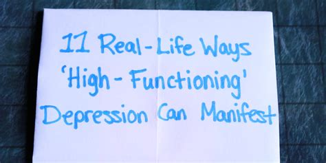11 Real-Life Ways 'High-Functioning' Depression Can