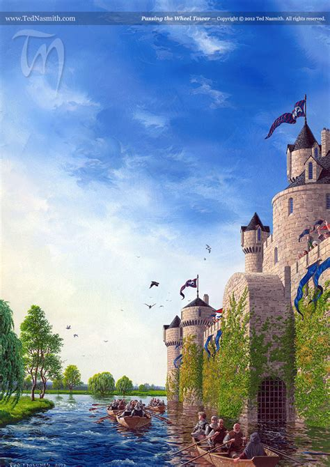Passing the Wheel Tower – Ted Nasmith
